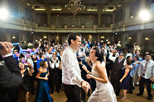 Bride and Groom sing a long with amazing dance band Cityscape